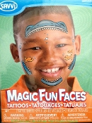 Magic Fun Faces Glitter Tattoos SHARKNADO KILLER SHARK Colorful Eye Wear Pretend Play Decals. Eye Shadow Face Art Stickers. Fake Temporary Transfers Birthday Party Favors Instant Makeup Cosmetic Accessory. Easy application and removal. Lasts days.