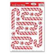 PEPPERMINT CANDY CANE CLINGS Christmas Crafts Window Mirror Refrigerator Dishwasher Glass Door Removable Stickers Decal Party Decoration - Time to decorate your windows for the holidays! Decorate with this festive classic. Looking good enough to eat!