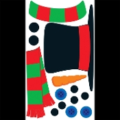 Beistle CREATE-A-SNOWMAN Peel 'N Place Removable WALL CLINGS Christmas DIY Crafts Stickers Window Mirror Refrigerator Glass Garage Door Decals Party Decorations - Holiday time! Decorate with festive removable Clings. Fun classic Frosty theme classic!