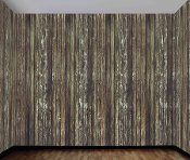 20-ft WOOD WALL ROOM ROLL BACKDROP Cabin Horror Movie Decoration