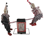 3x4Ft ANIMATED SEE-SAW CLOWNS DOLLS Halloween Haunted House Prop