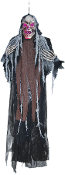 5Ft HANGING CREEPY SKULL REAPER Lights Halloween Prop Decoration