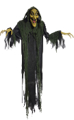 6Ft ANIMATED HANGING WITCH Talking Light-up Eyes Halloween Prop