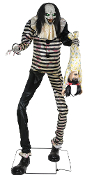 7Ft Animated SWEET DREAMS CLOWN w-KID LED Talking Halloween Prop