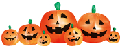 8-Ft Long INFLATABLE PUMPKIN PATCH Light Up Halloween Yard Decor