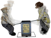 Animated SEE SAW KIDS PLAYGROUND Creepy Music Haunted House Prop