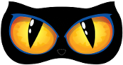 Big Spooky ANIMATED LIGHT-UP CAT EYES Halloween Prop Decoration