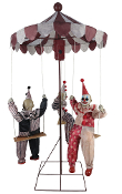Creepy ANIMATED CLOWN MERRY-GO-ROUND Haunted House Carnival Prop