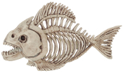 Fanged PIRANHA FISH SKELETON Bones Halloween Prop Decoration-10""