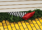 Funny Stuffed WICKED WITCH LEGS Oz Ruby Slippers Halloween Prop