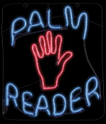 Light-Glo PALM READER Sign Fortune Teller Witch Prop Decoration