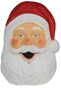 TALKING SANTA PLAQUE w-SOUND LIGHTS Holiday Christmas Decoration