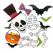 New Halloween SKELETON PUZZLE MAGNETS SET Novelty Theme Holiday Gift Party Decoration. Refrigerator, File Cabinet, Metal Garage Door, School Locker, Dishwasher, Car, Truck, Smooth Metal Surfaces. Cute festive magnetic decor, fun for all!