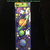 Fun Kids Nursery Room Decorations OUTER SPACE ROCKET STARS by Main Street Wall Creations. Rocket Planets Stars Galaxy Solar System Sci-Fi Theme Removable Jumbo Wall Door Locker Mirror Window CLINGS DECALS STICKERS. One 2-side sheet.