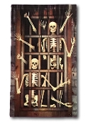 Gothic Haunted House Medieval Castle Prop-SKELETON PRISONERS DUNGEON DOOR COVER WALL MURAL-Halloween Decoration Horror Pirate Costume Birthday Party Window Decor-42x72