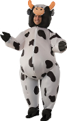 Hilarious Funny COMICAL COW INFLATABLE FULL BODY COSTUME Bovine Farm Animal - Hysterical Airblown Gag Halloween Cosplay Easy Fun Instant Cosplay Costume Parade Party Entertainer Mascot-Unisex ONE SIZE ADULT with Self Inflation Fan.