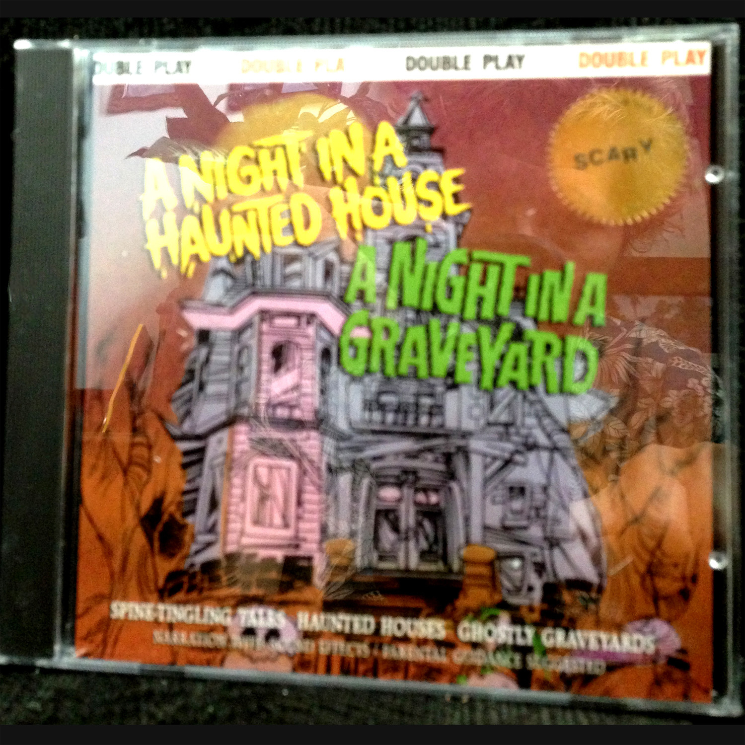 night in a haunted house graveyard narrated halloween horror cd