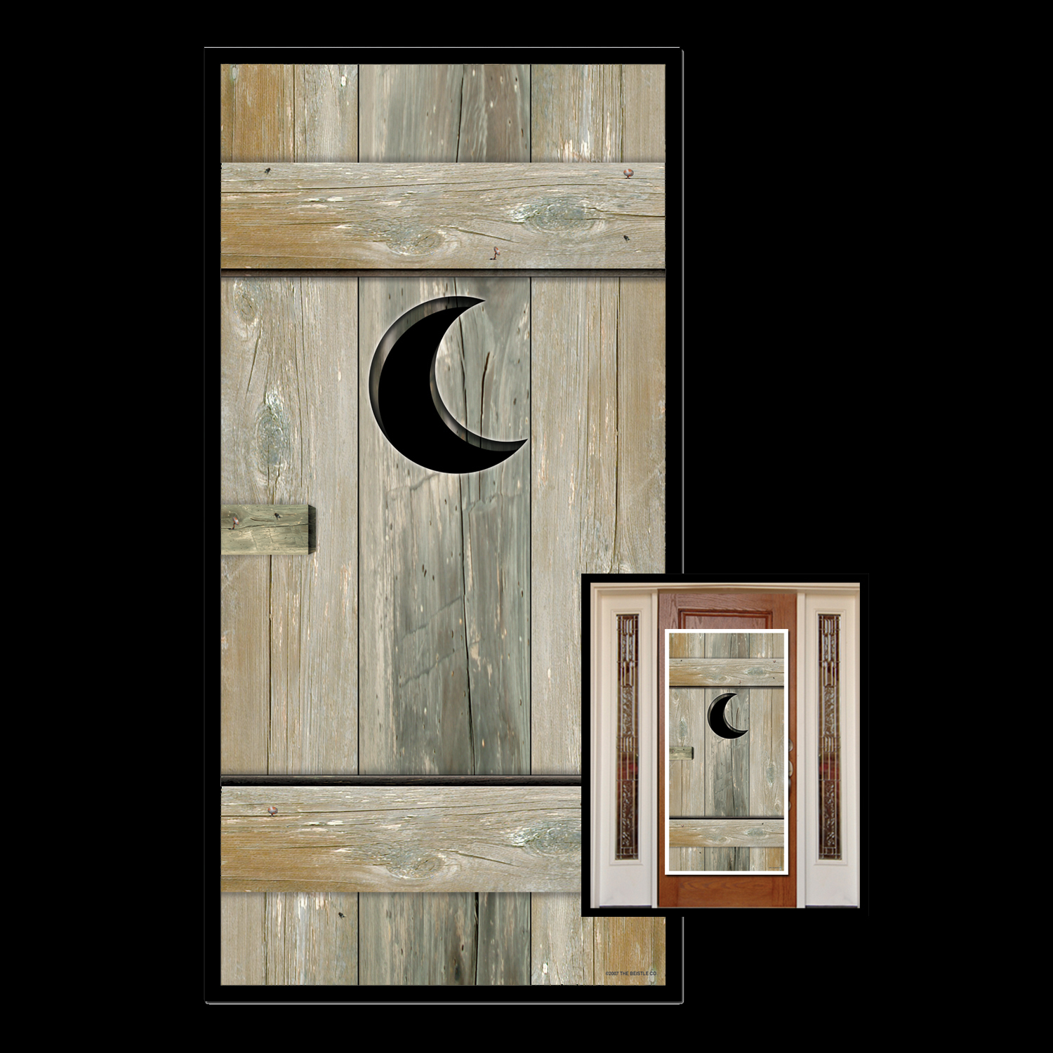 Funny Toilet Loo Outhouse Latrine Privy Bathroom Door Cover Shower Mural Restroom Wall Decor Western Scene