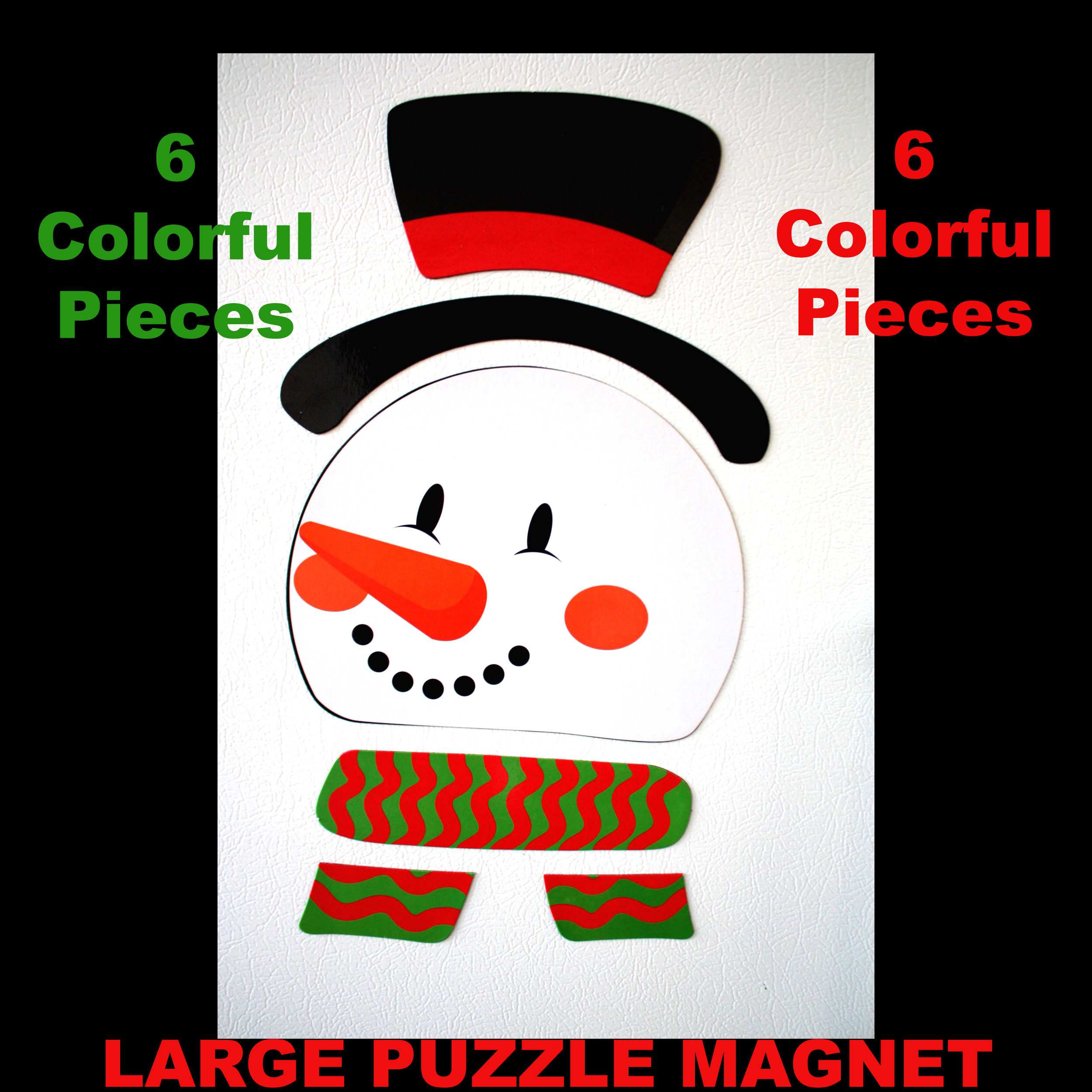 Fun Novelty Frosty Snowman Puzzle Magnet Refrigerator Locker Car